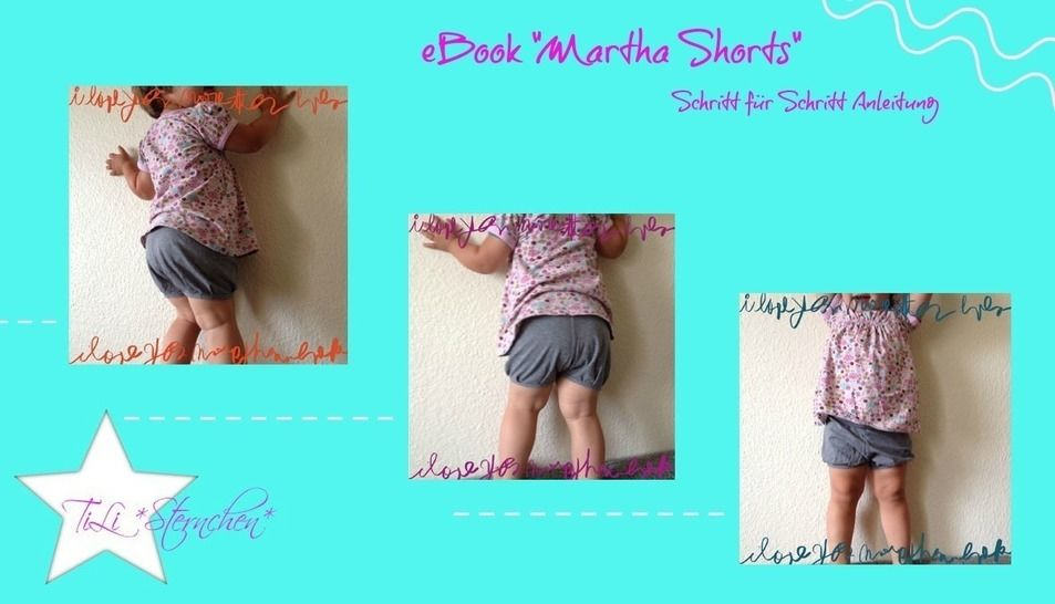 Ebok #4 Martha Shorts PDF Schnittmuster - Nähanleitungen bei Makerist sofort runterladen