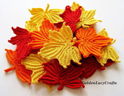 Download Maple Leaf Applique Crochet Pattern immediately at Makerist