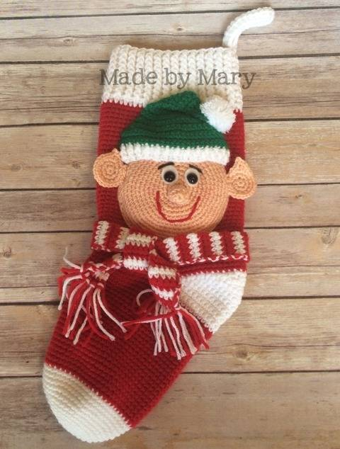 Download Elf Christmas Stocking immediately at Makerist