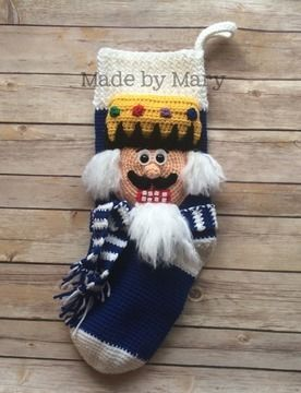 Download Nutcracker Christmas Stocking - Crochet Patterns immediately at Makerist