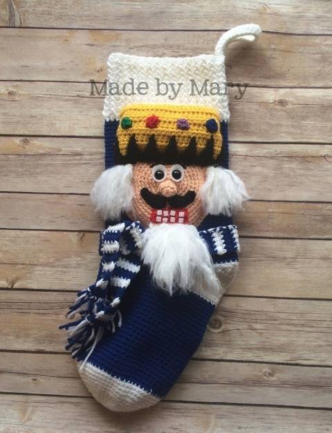 Download Nutcracker Christmas Stocking immediately at Makerist