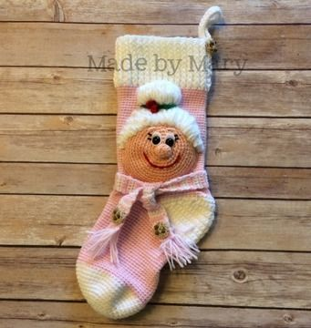 Download Mrs. Claus Christmas Stocking - Crochet Patterns immediately at Makerist