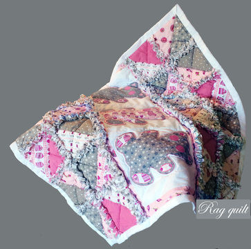 Download Teddy bears baby rag quilt - pdf tutorial - Patchwork & Quilting immediately at Makerist