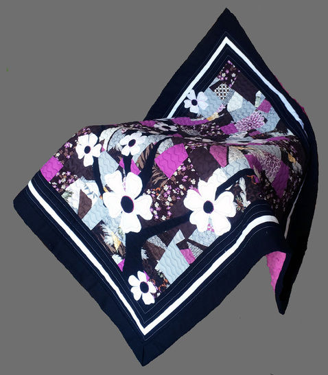 Download Baby quilt pdf pattern and tutorial - Sakuras - Patchwork & Quilting immediately at Makerist