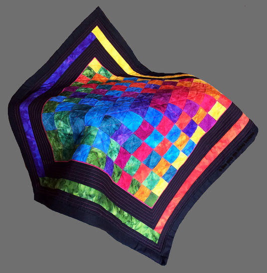Download Baby quilt pdf pattern and tutorial - Woven Rainbow - Patchwork & Quilting immediately at Makerist