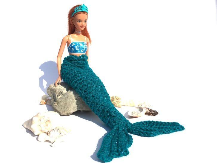 Meerjungfrauendecke häkeln für Barbies + ATLANTIS +