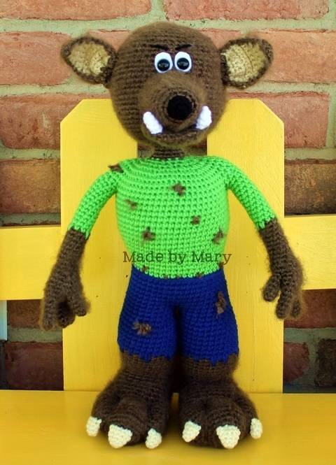 Download Wendell the Werewolf Amigurumi immediately at Makerist