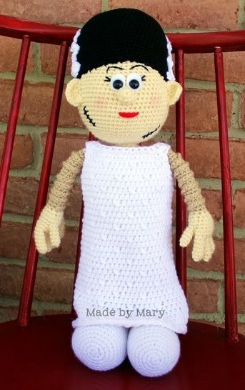 Download Frankenstein's Bride Amigurumi - Crochet Patterns immediately at Makerist