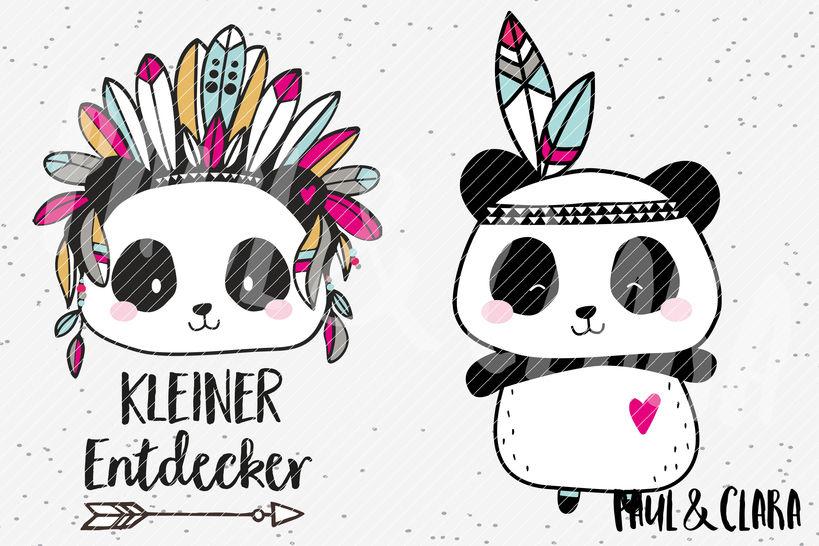 Plottervorlage Boho Panda - Plotterdateien bei Makerist sofort runterladen