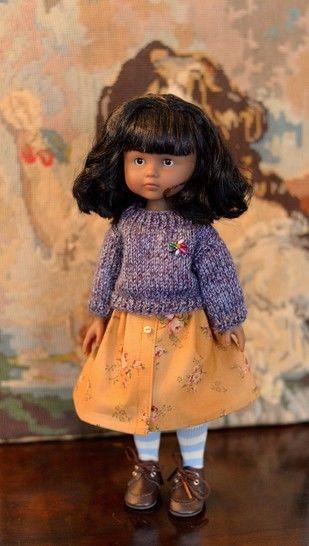 """Télécharger """"Roses et Myrtille"""" patron de vêtements pour poupée de 27 cm à 34 cm, type Les Chéries de Corolle, Amigas de Paola reina, et Minouche de Petitcollin - Patrons de couture tout de suite sur Makerist"""