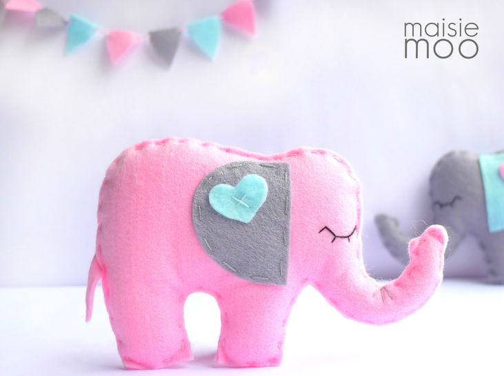 Download Felt Elephant Sewing Pattern  - Sewing Patterns immediately at Makerist