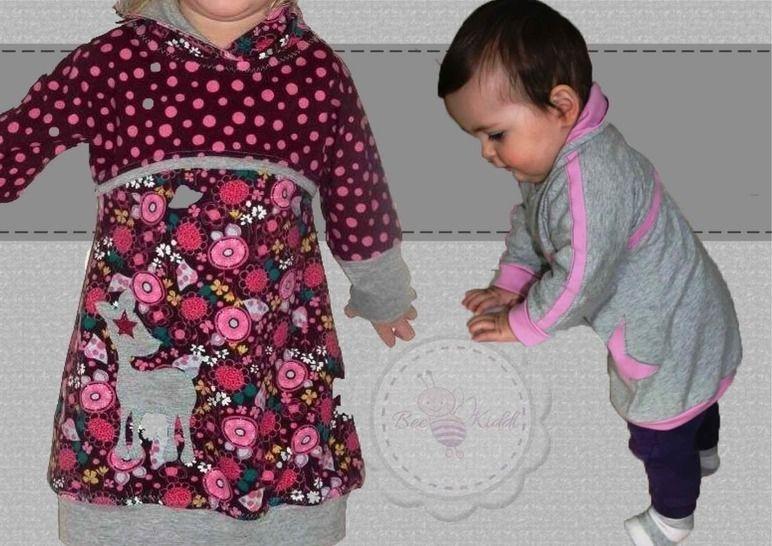 Little BeeDress LongShirt für die Kleinen Gr. 80 - 110  - Nähanleitungen bei Makerist sofort runterladen