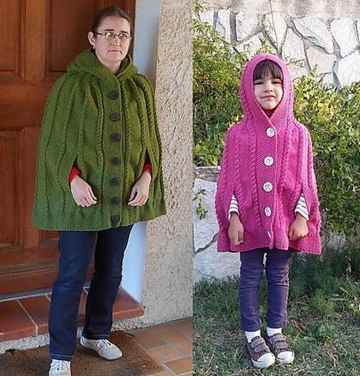 Download Kasha - cape for girls and women - Knitting Patterns immediately at Makerist