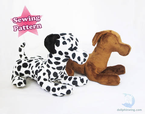 Download Laying Dog Plush Pattern immediately at Makerist