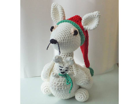Download kangaroo and baby - Crochet Patterns immediately at Makerist