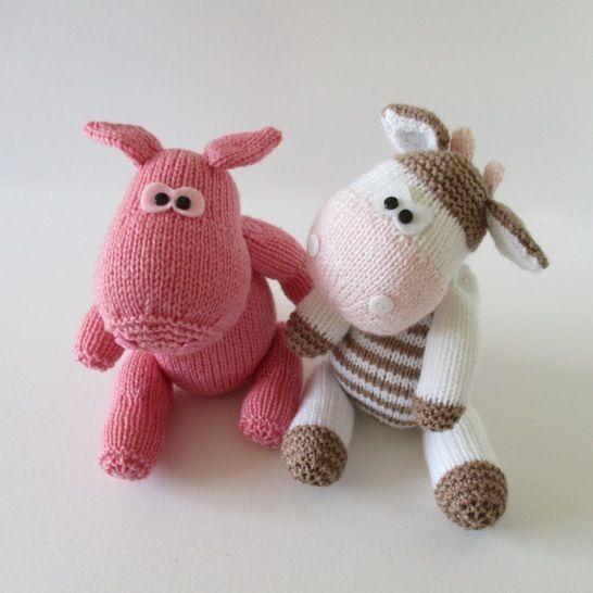 Chutney Cow and Pickles Pig (en) - Strickanleitungen bei Makerist sofort runterladen