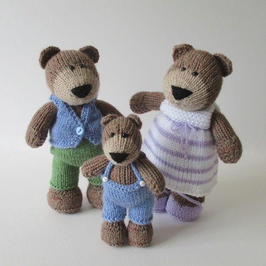 The Three Bears (en) - Strickanleitungen bei Makerist sofort runterladen