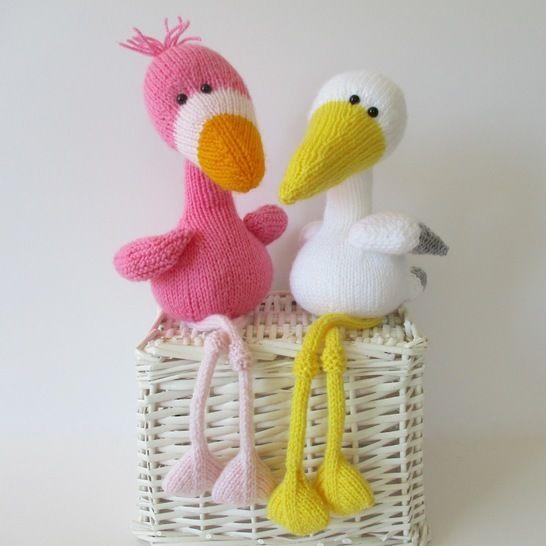 Flamingo and Stork (en) - Strickanleitungen bei Makerist sofort runterladen