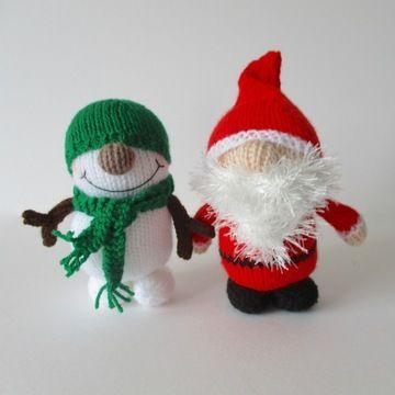 Father Crimbo and Snowy (en) - Strickanleitungen bei Makerist sofort runterladen