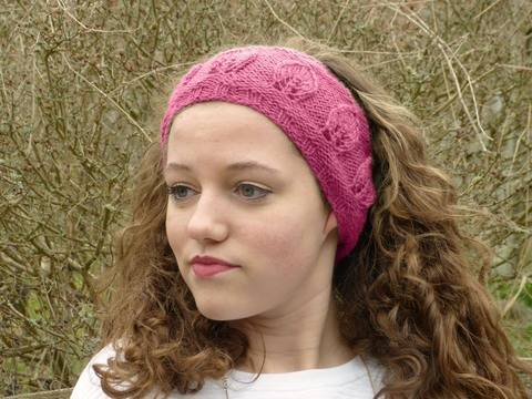 Leaf Motif Headband Pattern-Knit Flat Version (en) bei Makerist sofort runterladen