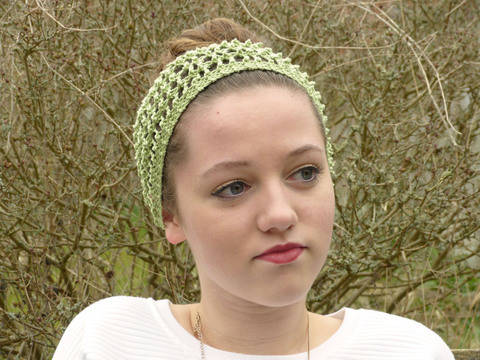 Filet Lace Straight Headband (en) bei Makerist sofort runterladen