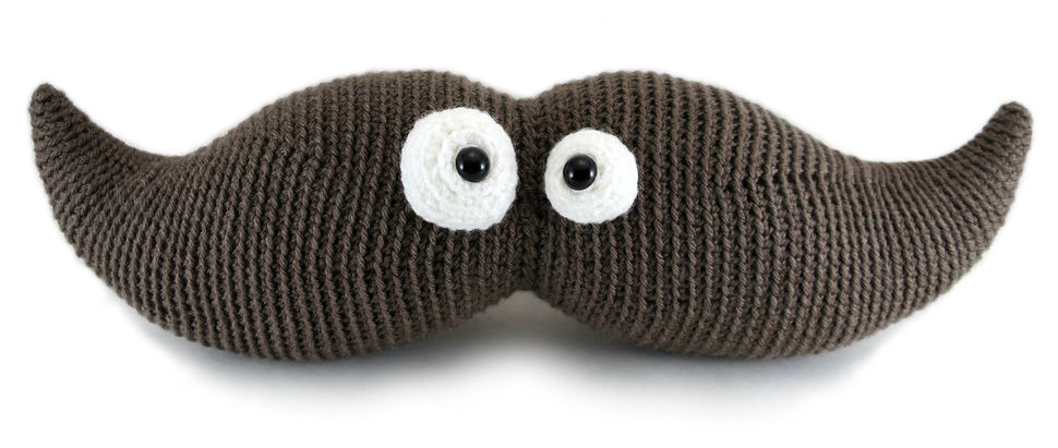 Harry the Moustache - amigurumi crochet pattern (en) - Häkelanleitungen bei Makerist sofort runterladen