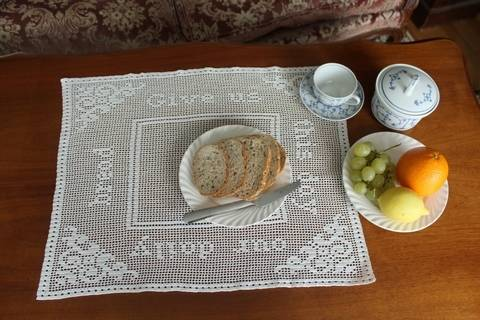 'Give us our daily bread' filet crochet doily (en) bei Makerist sofort runterladen