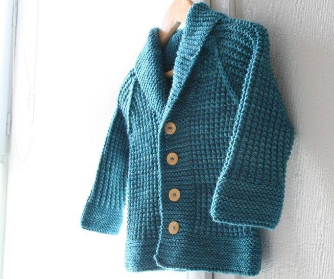 Download Oscar - Child cardigan knitting pattern - Knitting Patterns immediately at Makerist