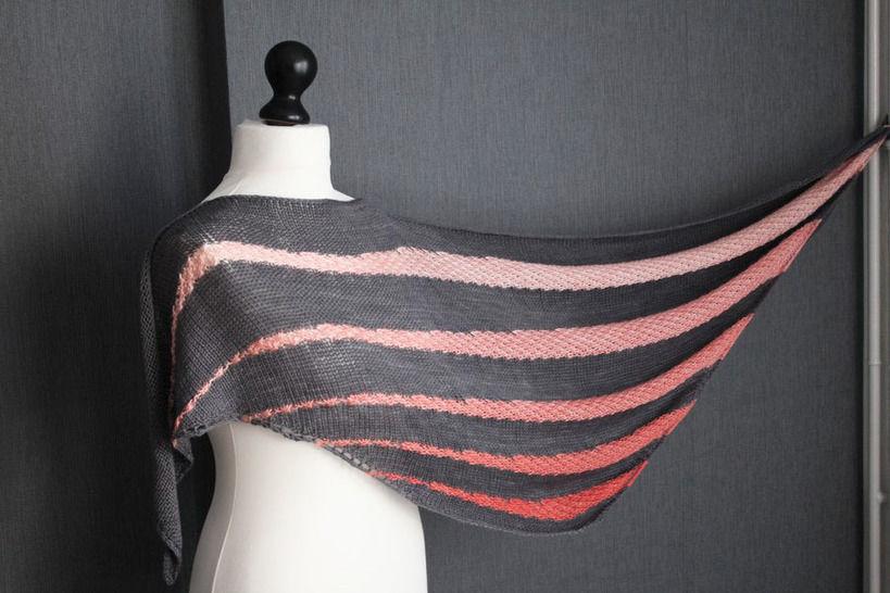 Download Soften - Shawl Knitting Pattern - Knitting Patterns immediately at Makerist