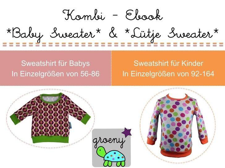 Kombi-EBook *Baby Sweater und Lütje Sweater* - Nähanleitungen bei Makerist sofort runterladen