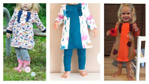 Nähanleitung und Schnittmuster littleGaia Rüschenkleid bei Makerist sofort runterladen
