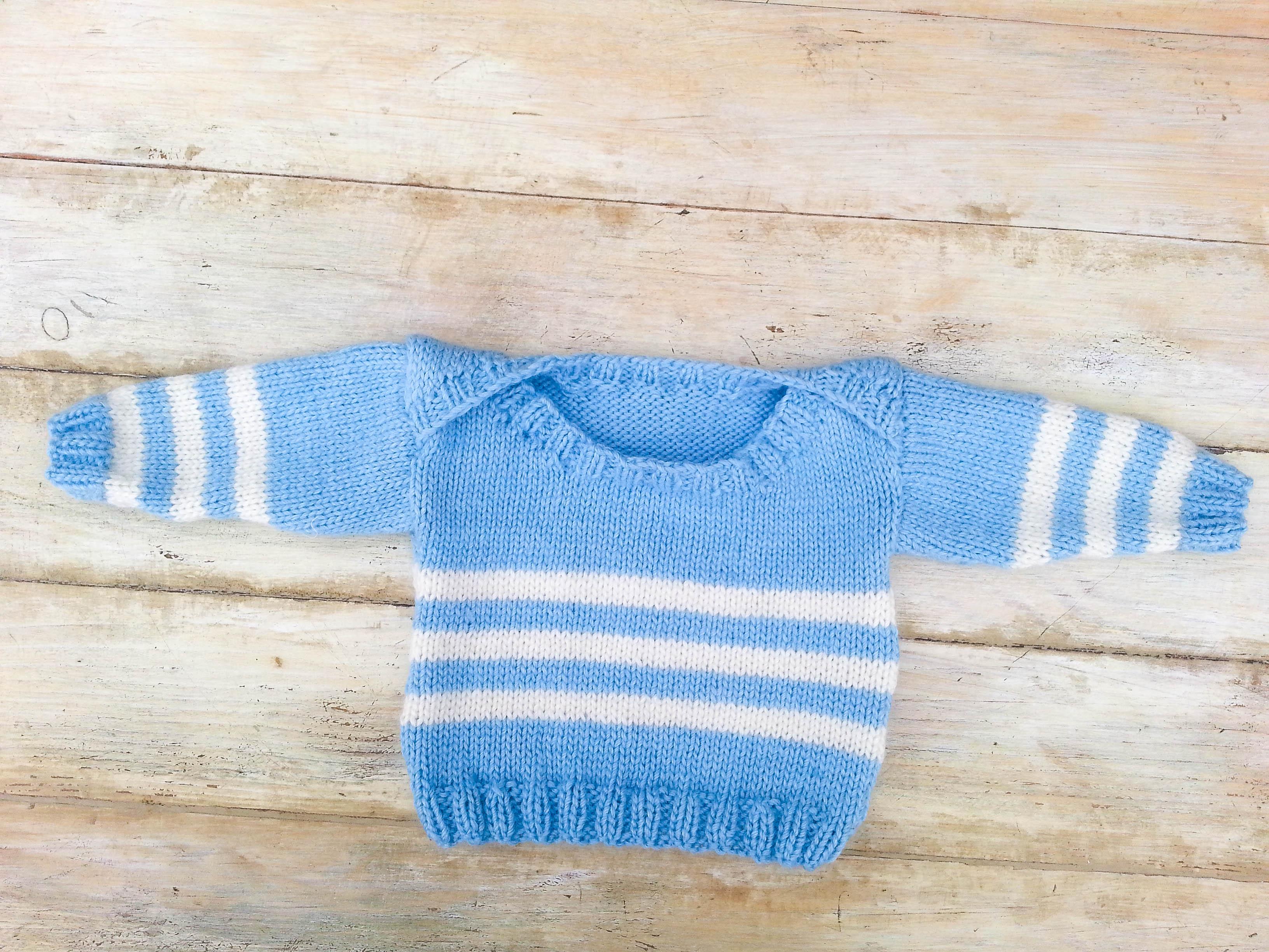 Knitting Pattern Envelope Neck Sweater 6 Sizes Baby Toddler