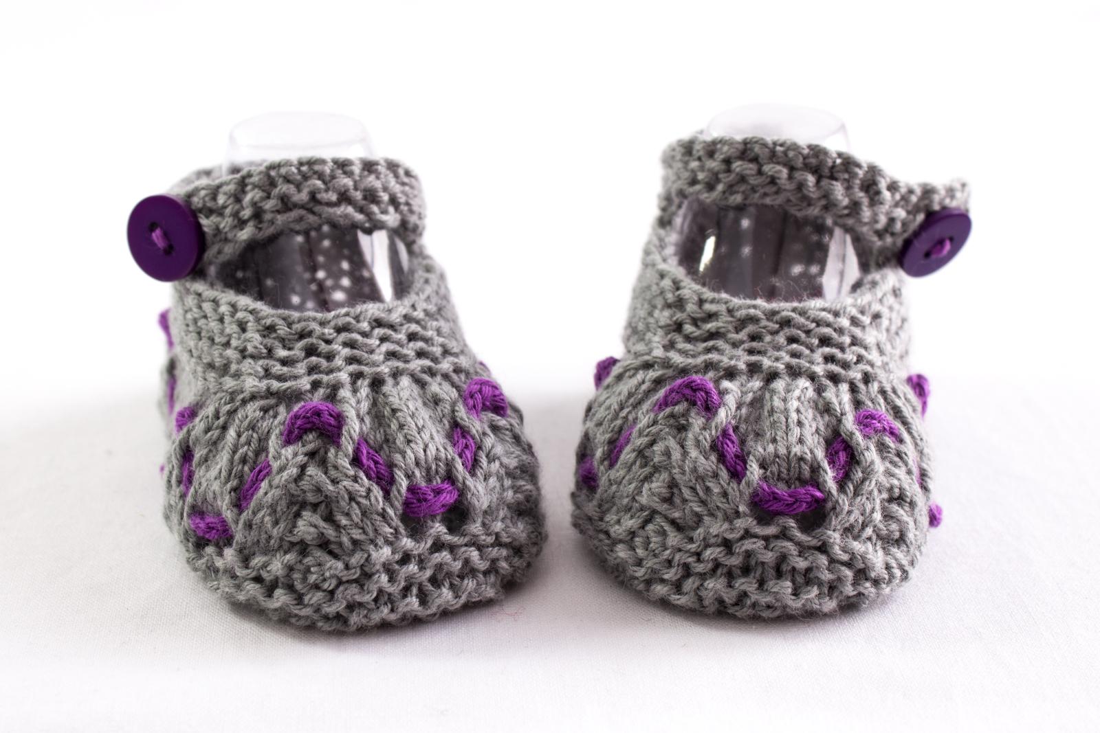 Baby Girl Summer Booties, Knitting Pattern, Baby Girl ...