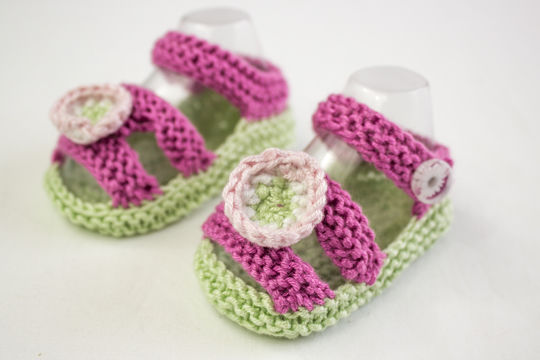 baby Girl Sandal Pattern, Knitting Pattern (en) - Strickanleitungen bei Makerist sofort runterladen