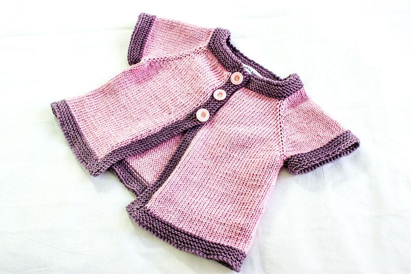 KNITTING PATTERN, , Baby Jacket Knitting Pattern, French Fashion Inspired Baby Pattern, PDF (en) - Strickanleitungen bei Makerist sofort runterladen