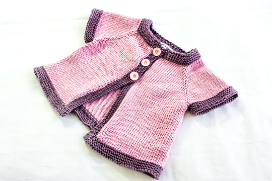 KNITTING PATTERN, , Baby Jacket Knitting Pattern, French Fashion Inspired Baby Pattern, PDF (en) - Strickanleitungen bei Makerist sofort runterladen