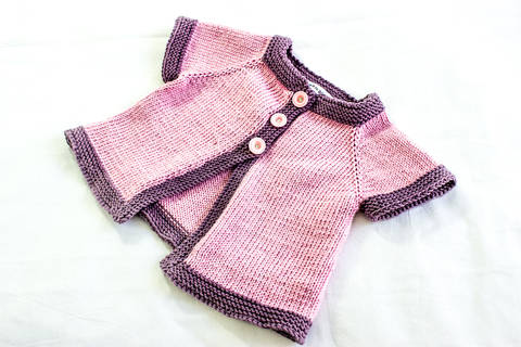 KNITTING PATTERN, , Baby Jacket Knitting Pattern, French Fashion Inspired Baby Pattern, PDF (en) bei Makerist sofort runterladen