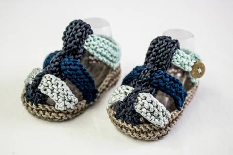 Baby Boy Summer Sandals Knitting Pattern (en) bei Makerist sofort runterladen