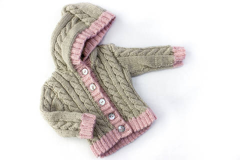 KNITTING PATTERN, Cable Cardigan, Optional Hood , 6 Sizes, Instant Download Pattern, Baby, Toddler, Kids Sizes, Unisex Cable Cardigan (en) bei Makerist sofort runterladen
