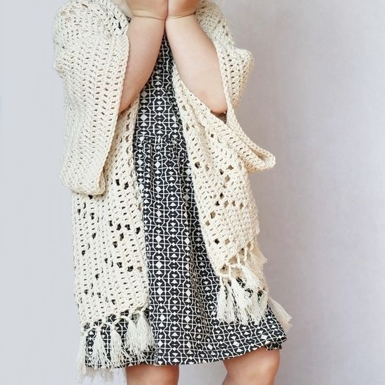 Crochet Pattern Kenzie Kimono Cardigan For Toddlers Kids Adults
