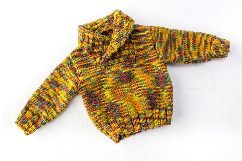 KNITTING PATTERN, Shawl Collar Sweater, 6 Sizes, Baby, Toddler, Kids Sizes (en) - Strickanleitungen bei Makerist sofort runterladen