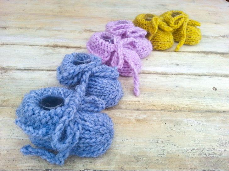 Baby Slippers- Knitting pattern- Chunky Yarn (en) - Strickanleitungen bei Makerist sofort runterladen