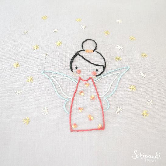 Little Fairy, hand embroidery PDF pattern & instructions (en) - Stickmuster bei Makerist sofort runterladen