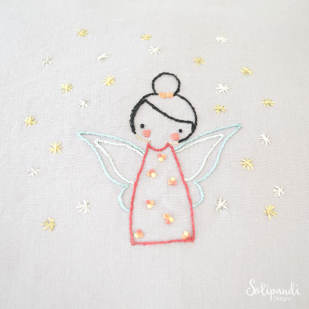 Little fairy hand embroidery pdf pattern instructions en
