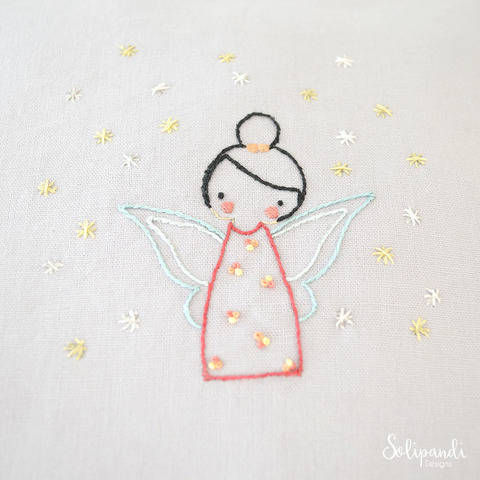 Little Fairy, hand embroidery PDF pattern & instructions (en) bei Makerist sofort runterladen