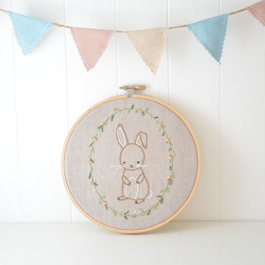 Little Bunny, hand embroidery PDF pattern & instructions (en) - Stickmuster bei Makerist sofort runterladen