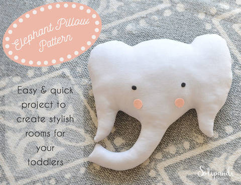 Elephant Pillow Sewing Pattern // Make your own // Toy Pattern // Easy Sewing Pattern (en) bei Makerist sofort runterladen