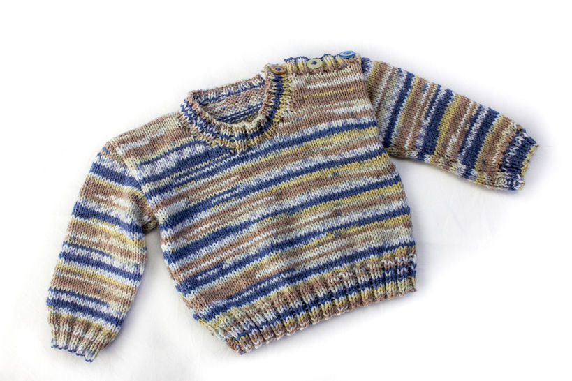 KNITTING PATTERN, Shoulder Buttoned Sweater, 6 Sizes, Baby, Toddler, Kids Sizes, PDF, Easy Kids Pattern, Stylish Boy's Buttoned Sweater (en) - Strickanleitungen bei Makerist sofort runterladen