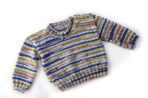 KNITTING PATTERN, Shoulder Buttoned Sweater, 6 Sizes, Baby, Toddler, Kids Sizes, PDF, Easy Kids Pattern, Stylish Boy's Buttoned Sweater (en) bei Makerist sofort runterladen