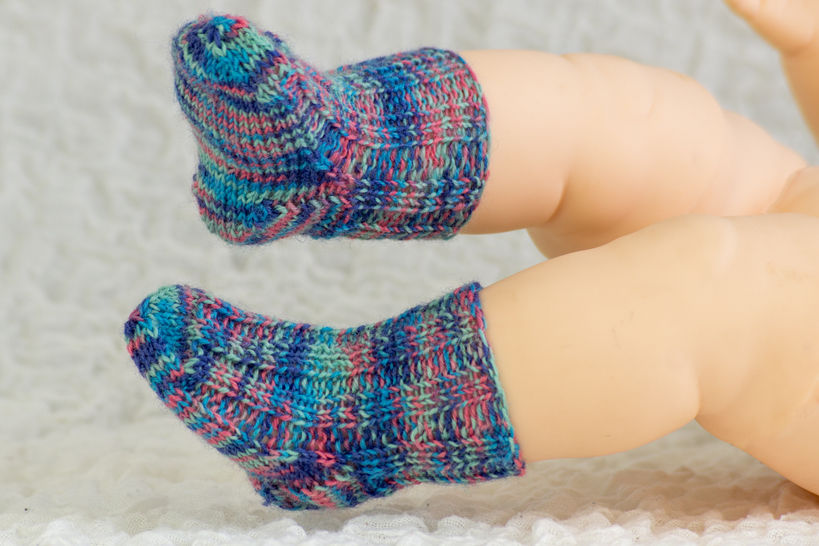 Knitting pattern - Sock pattern - Baby Sock Knitting Pattern - Newborn Socks Knitting Pattern                         (en) - Strickanleitungen bei Makerist sofort runterladen